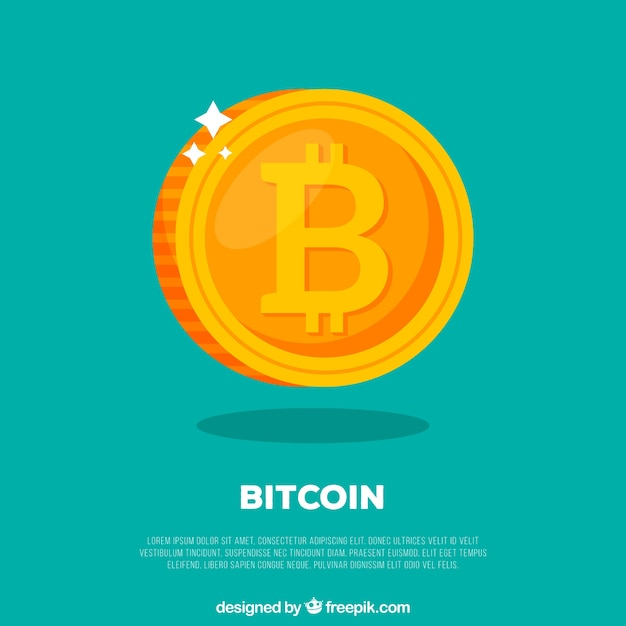 Bitcoin-design Kostenlosen Vektoren