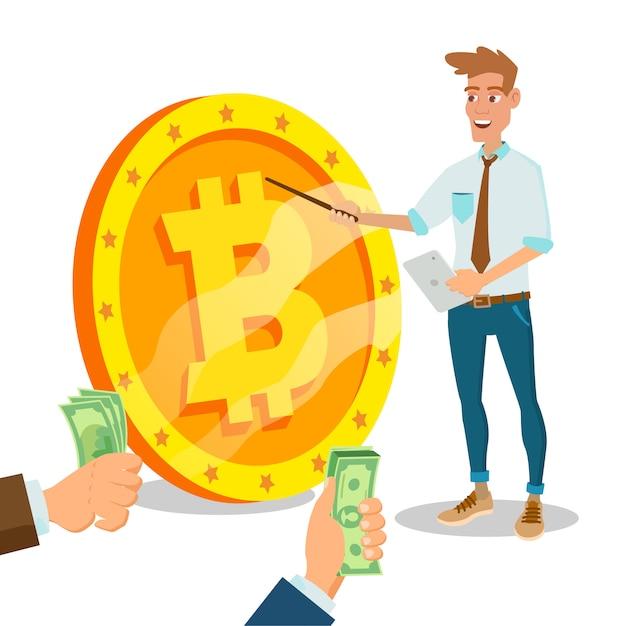 Bitcoin innovative start up Premium Vektoren