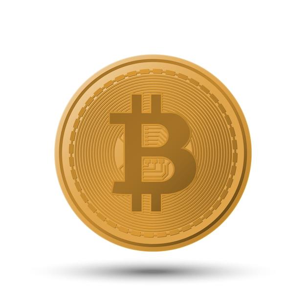 Bitcoin kryptowährung münze Premium Vektoren