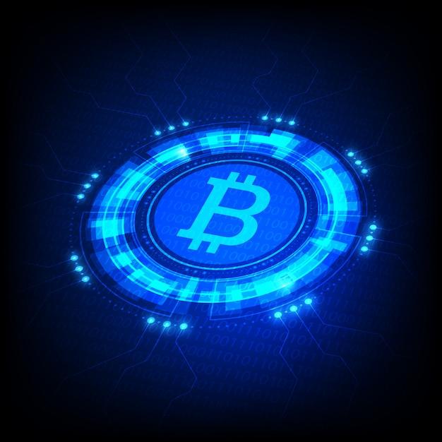 Bitcoin-symbol Premium Vektoren