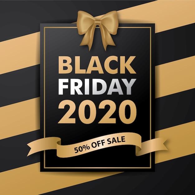 Black friday 2020 karte Premium Vektoren