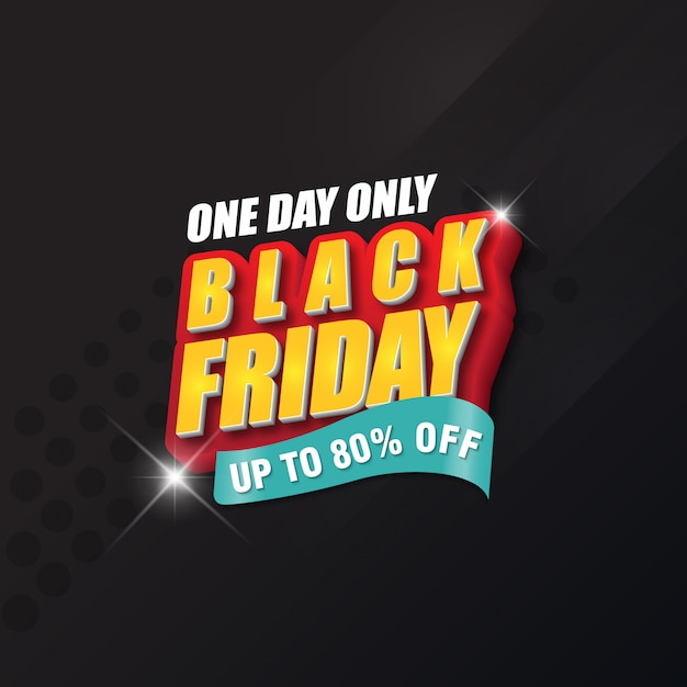 Black friday banner design-vorlage Premium Vektoren
