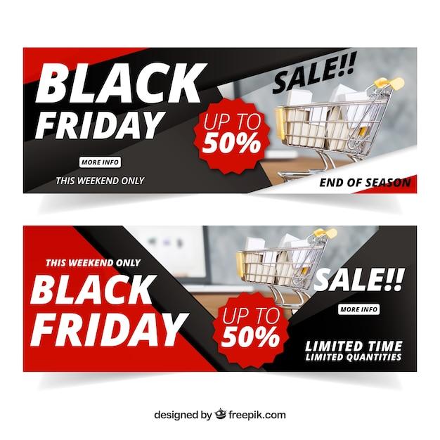 black friday banner mit bild download der kostenlosen vektor. Black Bedroom Furniture Sets. Home Design Ideas