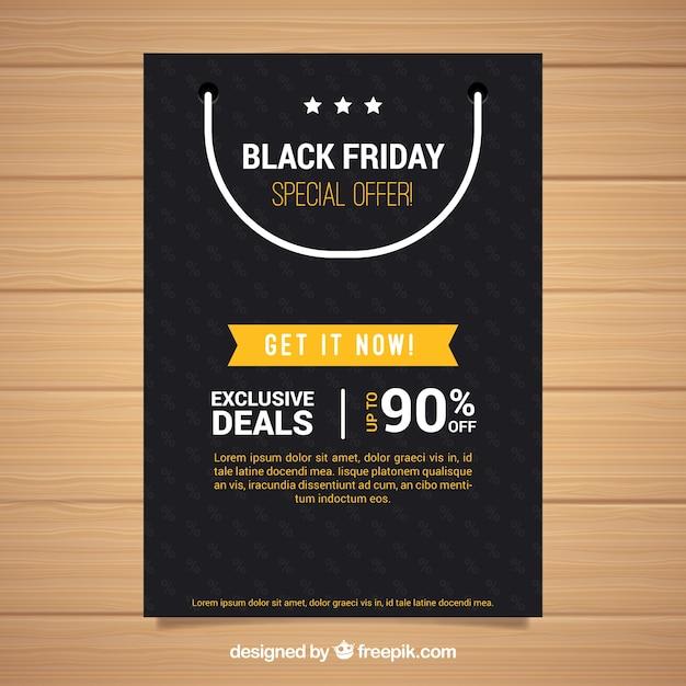 Black Friday Poster Mit Einkaufstasche Download Der