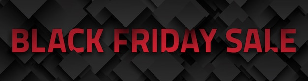 Black friday sale 3d banner Premium Vektoren