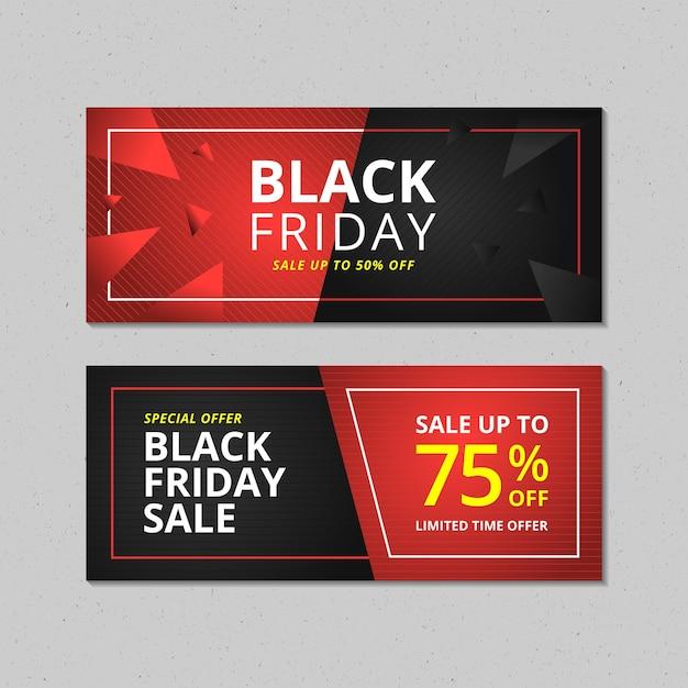 Black friday sale banner set Premium Vektoren