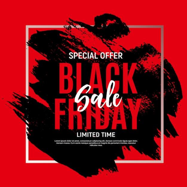 Black friday sale banner vorlage. illustration Premium Vektoren