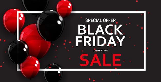 Black friday sale banner vorlage. Premium Vektoren