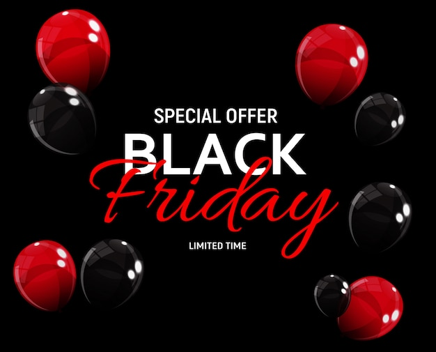 Black friday sale banner vorlage Premium Vektoren