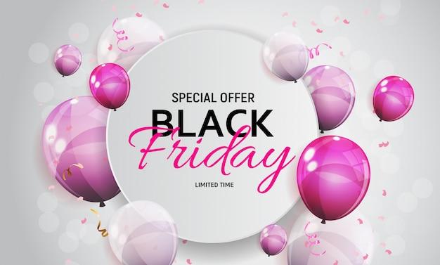 Black friday sale banner vorlage Premium Vektoren