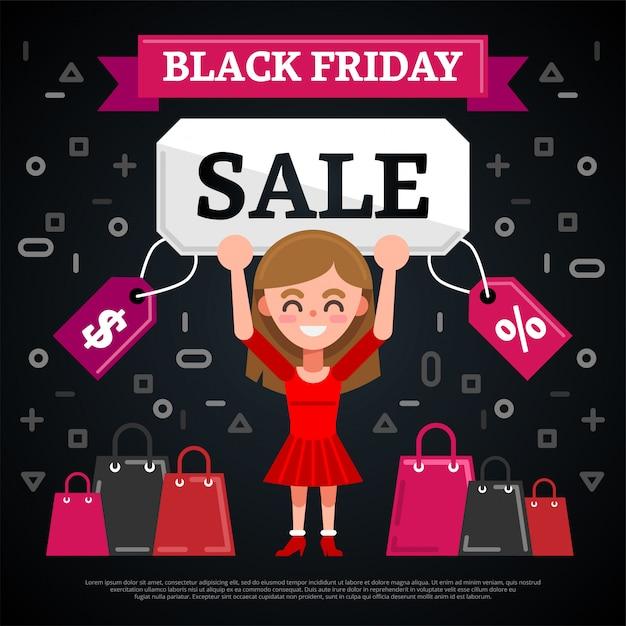 Black friday sale banner Premium Vektoren