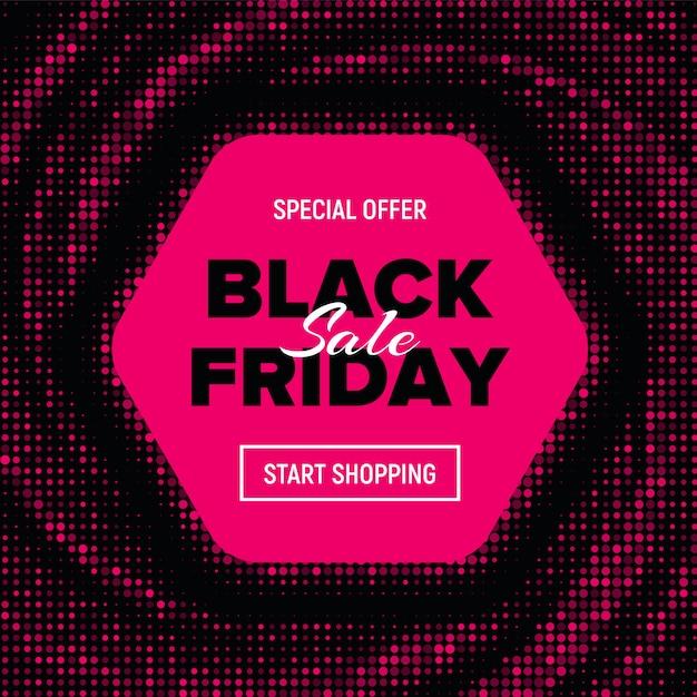 Black friday sale banner. Premium Vektoren