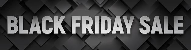 Black friday sale breites banner Premium Vektoren