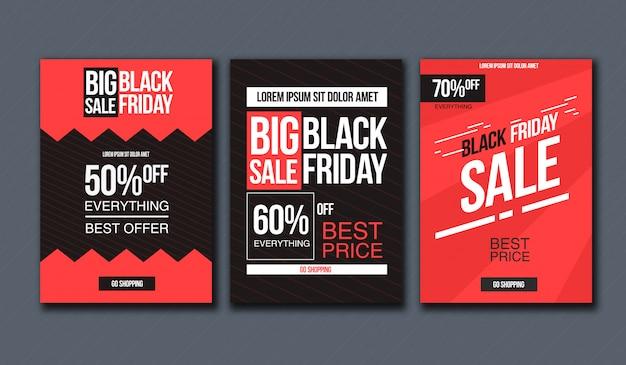 Black friday sale design-vorlage. konzeptionelles layout für banner und print. Premium Vektoren