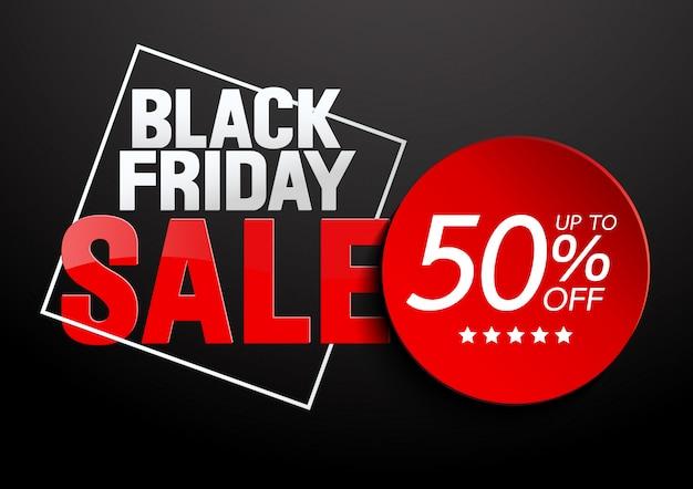 Black friday sale ende der saison Premium Vektoren