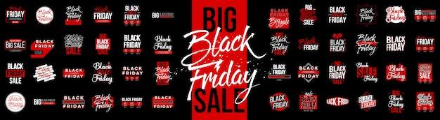 Black friday sale label-tag-set Premium Vektoren