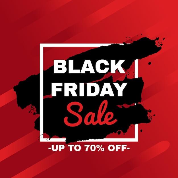 Black friday sale werbekampagne werbung. Premium Vektoren