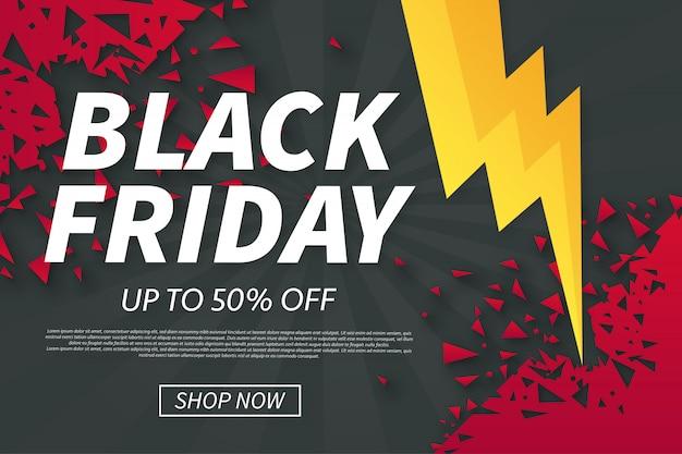 Black Friday Sales mit gebrochenen Formen Kostenlose Vektoren