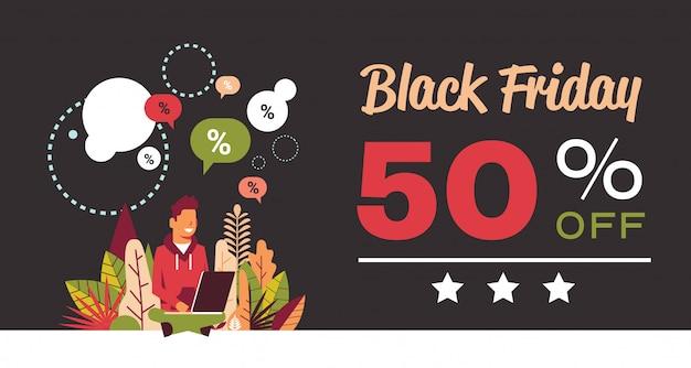 Black friday sonderangebot verkauf banner Premium Vektoren