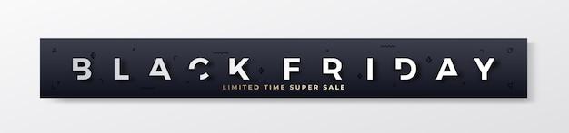 Black friday stylish premium banner oder header. Kostenlosen Vektoren
