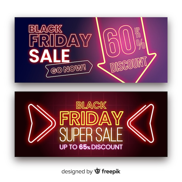 Black friday super sale banner Kostenlosen Vektoren