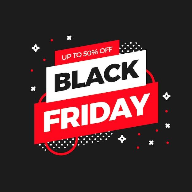 Black friday-verkauf banner-template-design Kostenlosen Vektoren