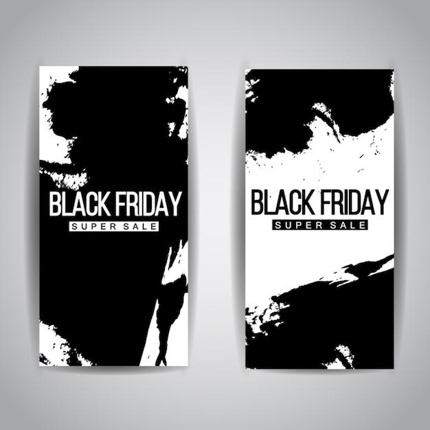Black friday verkauf broschüren Kostenlosen Vektoren