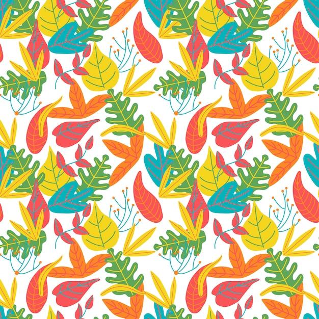 Blätter abstrakten bunten hellen muster hintergrund Premium Vektoren