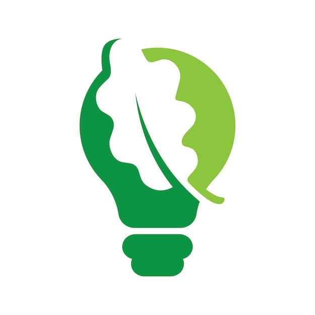 Blättern sie in glühbirne ideen Premium Vektoren