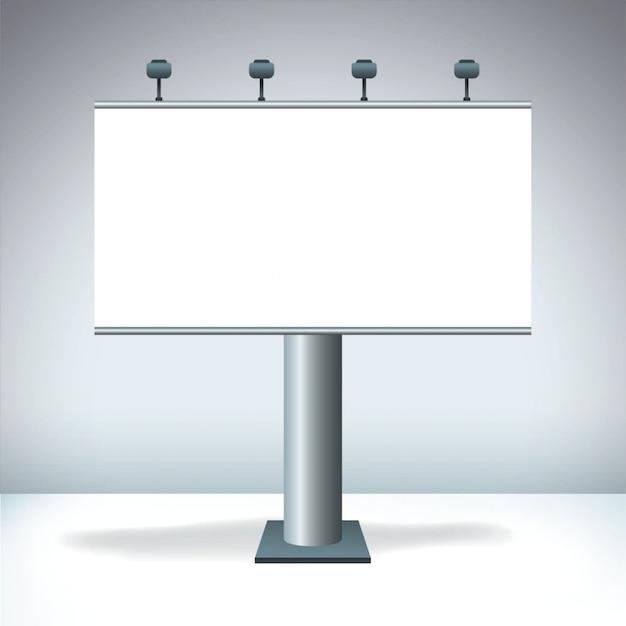 Blank billboard-anzeige Premium Vektoren