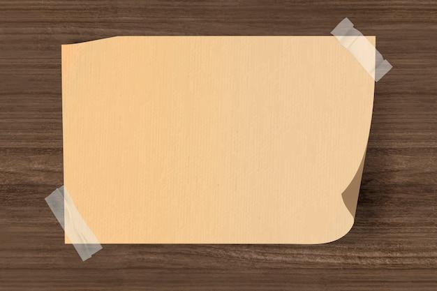 Blankopapier geklebt Kostenlosen Vektoren