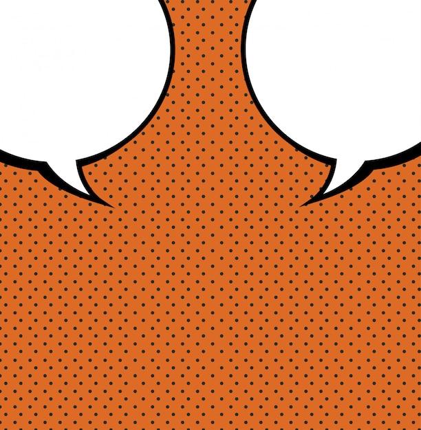 Blase comic-konzept Kostenlosen Vektoren