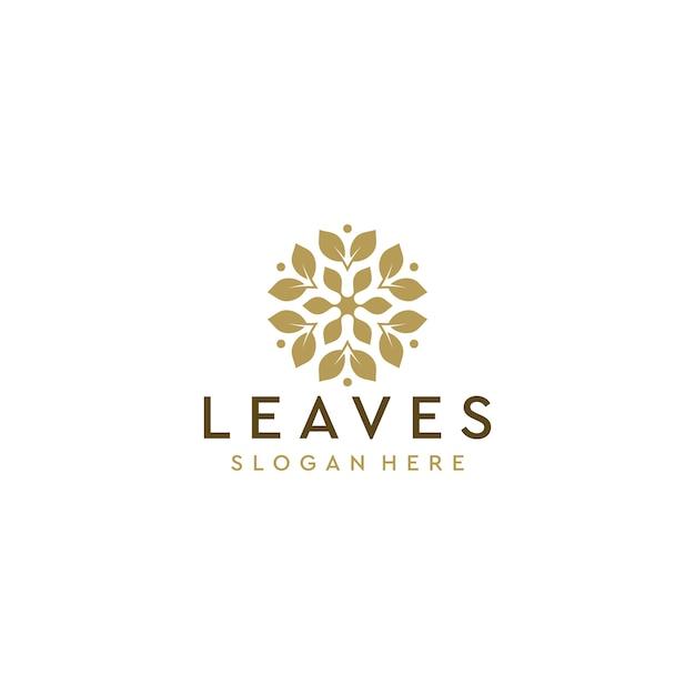 Blatt logo deisgn Premium Vektoren