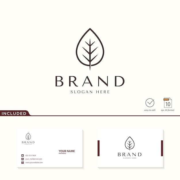 Blatt logo design inspiration Premium Vektoren