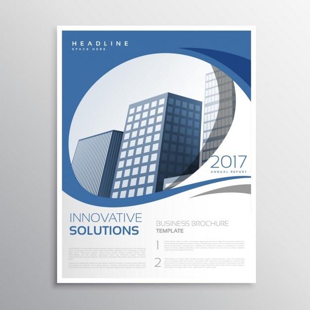Blau Business Flyer Broschüre Jahresbericht Deckblatt Design