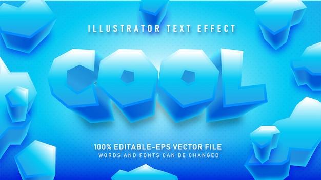 Blau cooler textstil-effekt Kostenlosen Vektoren