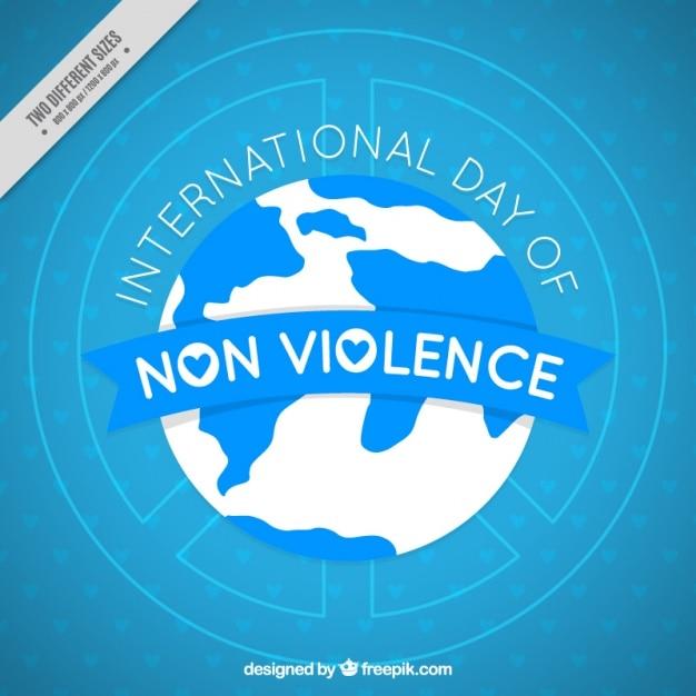 Blau internationaler tag der gewaltlosigkeit hintergrund Kostenlosen Vektoren