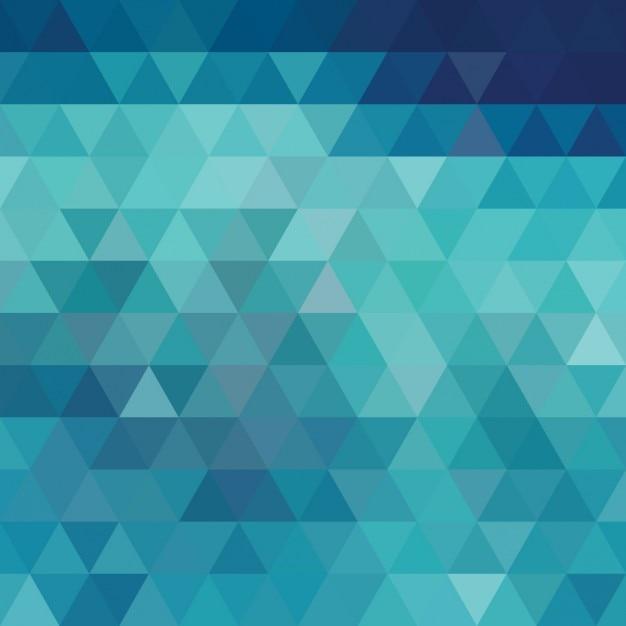 Blau mit dreieckigen formen hintergrund-design Kostenlosen Vektoren