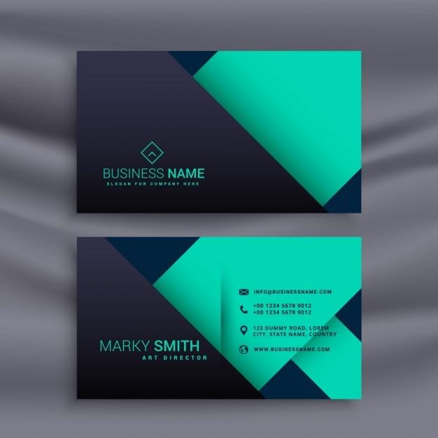 Blau Visitenkarten Design In Minimalen Stil Kostenlose Vektor