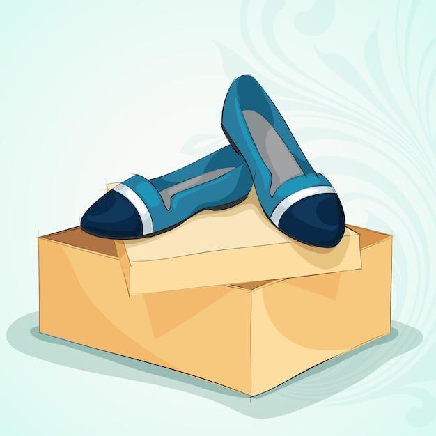 Blaue ballerinas der zufälligen frau Kostenlosen Vektoren