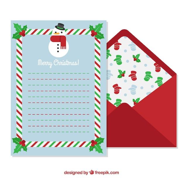 Blaue Briefvorlage Und Roter Umschlag Download Der Kostenlosen Vektor