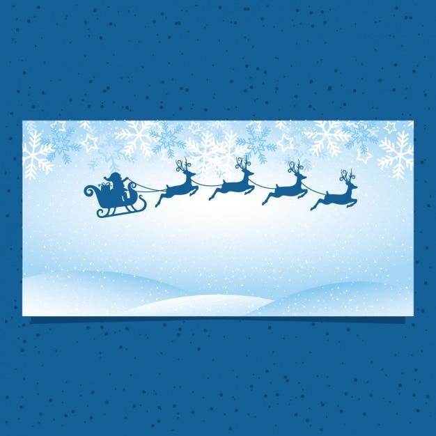 blaue fahne mit weihnachtsmann und rentiere download der. Black Bedroom Furniture Sets. Home Design Ideas