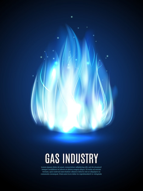 Blaue flamme hintergrund Kostenlosen Vektoren
