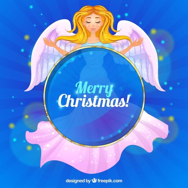 blaue frohe weihnachten hintergrund mit hand gezeichnet. Black Bedroom Furniture Sets. Home Design Ideas
