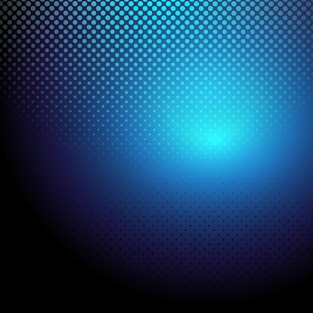 Blaue Halbton-Punkte Hintergrund Kostenlose Vektoren