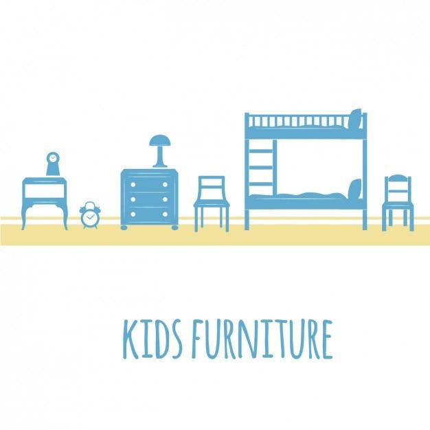 Blaue Kindermöbel Download Der Kostenlosen Vektor