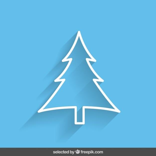 blaue kontur weihnachtsbaum download der kostenlosen vektor. Black Bedroom Furniture Sets. Home Design Ideas