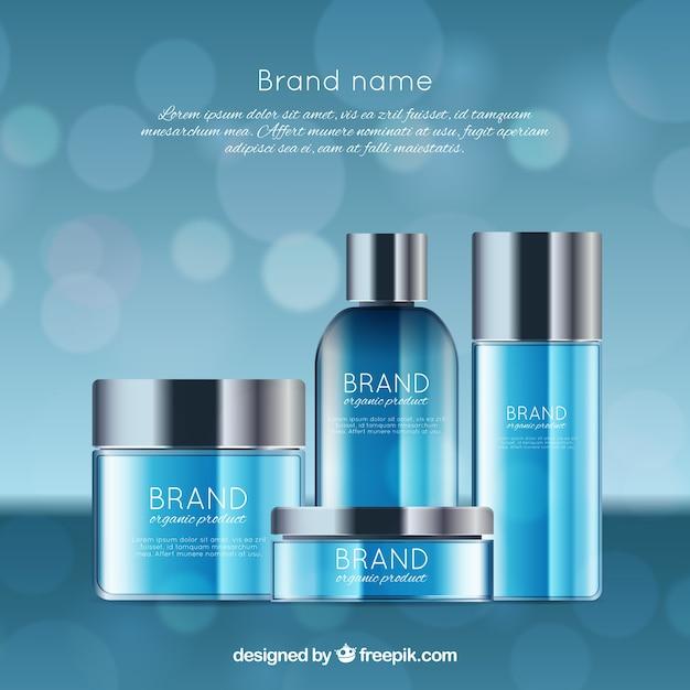 Blaue kosmetik hintergrund Kostenlosen Vektoren