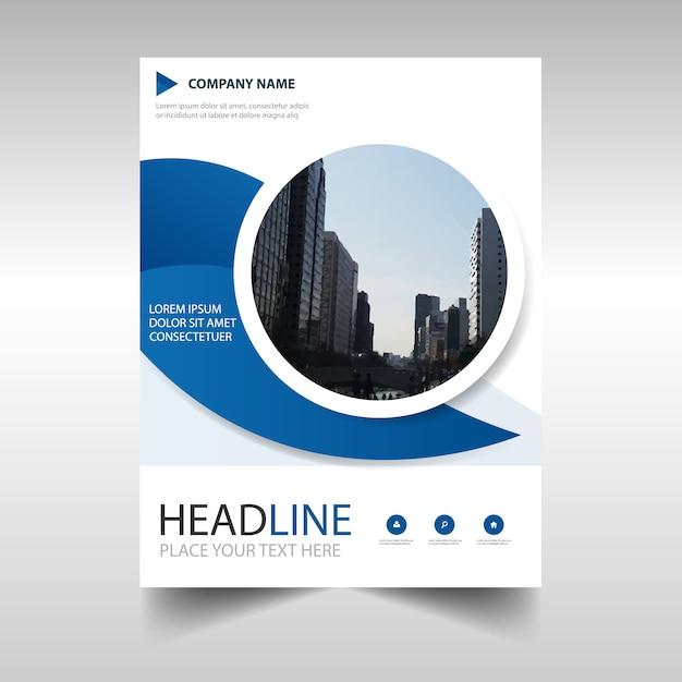 Blaue kreative Jahresbericht Buchabdeckung Vorlage Kostenlose Vektoren