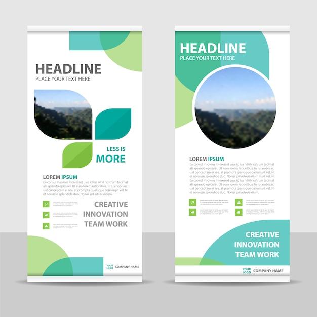 Blaue kreative Roll-up-Banner-Vorlage | Download der kostenlosen Vektor
